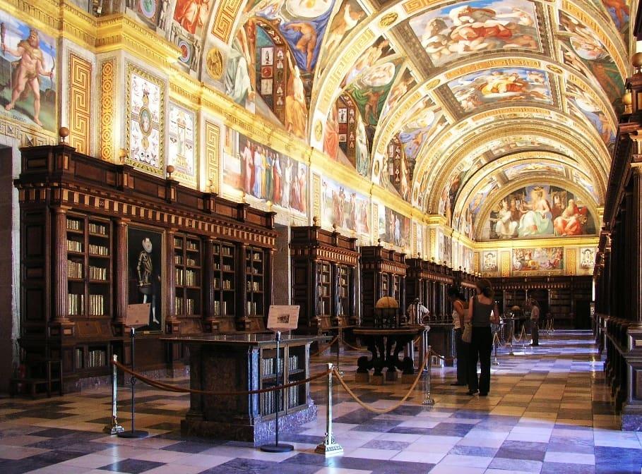 Escorial Biblioteca by Xauxa Håkan Svensson, Wikimedia Commons