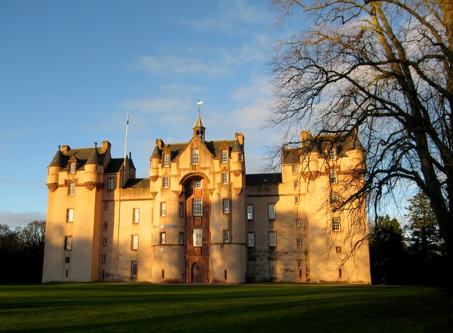 Fyvie Castle in Early Winter by Martyn Gorman, Wikimedia Commons