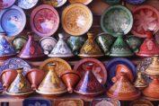 Tajines in a Pottery Shop in Morocco by Jafri Ali via Wikimedia Commons