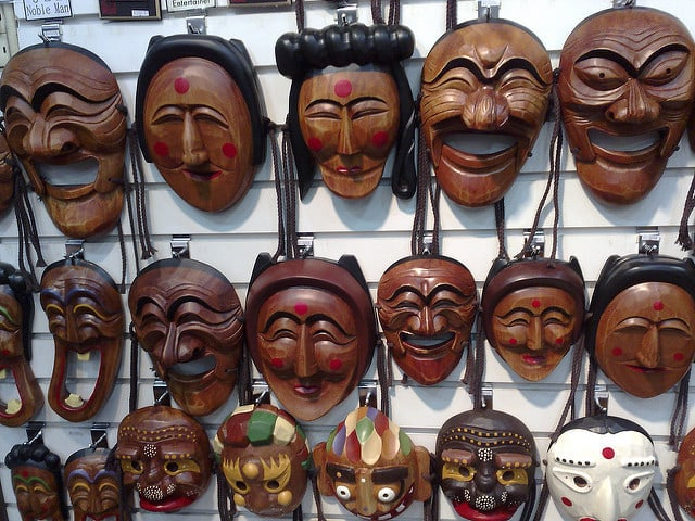 Traditional Korean Masks in Insadong, Seoul by Tim Walker via Flickr
