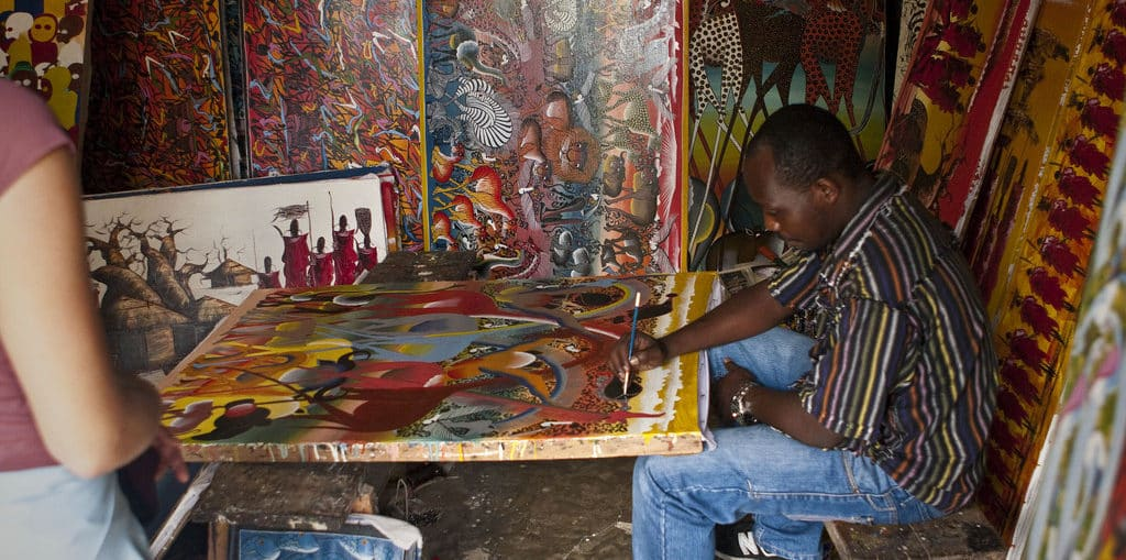 Stone Town Street Artist by Mouser Williams (via Flickr)